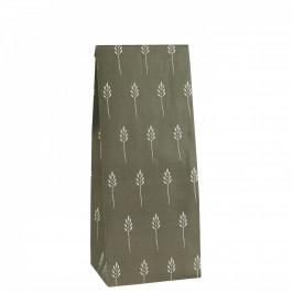 IB LAURSEN Papírový sáček Wild Wheat Autumn green S, zelená barva, papír