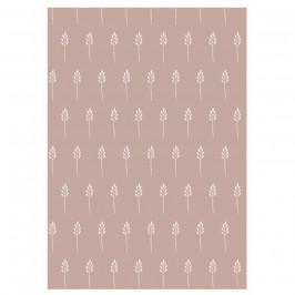 IB LAURSEN Balicí papír Wild Wheat Malva - 10 m, růžová barva, papír