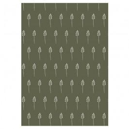 IB LAURSEN Balicí papír Wild Wheat Autumn green - 10 m, zelená barva, papír