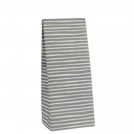 IB LAURSEN Papírový sáček Stripe Grey S, šedá barva, papír