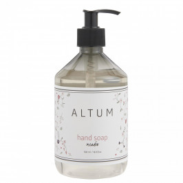 IB LAURSEN Tekuté mýdlo na ruce ALTUM - Meadow 500 ml, šedá barva, bílá barva, plast