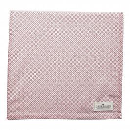 GREEN GATE Bavlněný ubrus Sandra Pink 150x150cm, růžová barva, textil