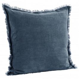 MADAM STOLTZ Manšestrový povlak na polštář Orion blue 50x50 cm, modrá barva, textil
