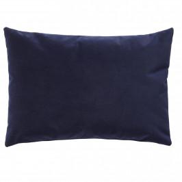 Hübsch Velurový polštář Soft Blue 60 x 40 cm, modrá barva, textil
