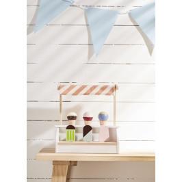 Kids Concept Stolní stánek se zmrzlinou Bistro, multi barva, přírodní barva, dřevo