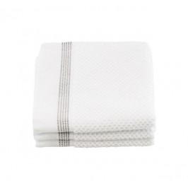 meraki Malé ručníky z organické bavlny 30x30 - set 3ks, šedá barva, bílá barva, textil