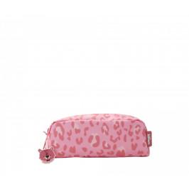 EEF lillemor Dětské pouzdro Cheetah, růžová barva, plast