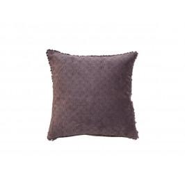 Chic Antique Bavlněný polštář Moulin 40x40 cm Aubergine, fialová barva, hnědá barva, textil