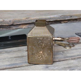 Chic Antique Lucerna Antique Brass 18 cm, měděná barva, sklo, kov