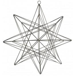 IB LAURSEN Drátěná dekorace Hanging Three Dimensional 28 cm, šedá barva, kov