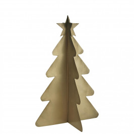 IB LAURSEN Dekorativní kovový stromeček Brass 21 cm, zlatá barva, kov