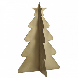 IB LAURSEN Dekorativní kovový stromeček Brass 24 cm, zlatá barva, kov
