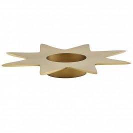 House Doctor Vánoční svícen Gold Star 22 cm, zlatá barva, kov