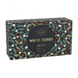 SCOTTISH FINE SOAPS Vánoční tuhé mýdlo Winter Berries 220g, zelená barva