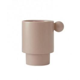 OYOY Kameninový hrnek Inka Cup Rose, růžová barva, keramika