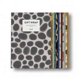 ferm LIVING Sada dětských balících papírů Fruiticana and Safari, multi barva, papír