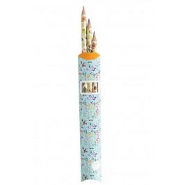 MANKAI Paper Sada tužek Podzim s liškou - 3ks, multi barva, dřevo