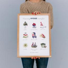 Bella Rose Plakát Vánoční Hygge Manifest (limitovaná edice - SK), multi barva, papír
