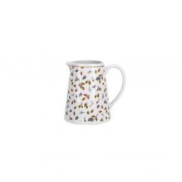 Krasilnikoff Porcelánový džbánek Golden Acorn 200ml, šedá barva, zlatá barva, porcelán