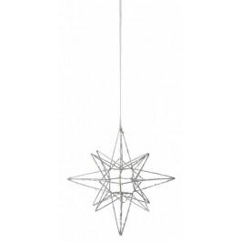 watt & VEKE Závěsná svítící hvězda Polar Large Silver, stříbrná barva, kov
