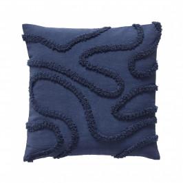 Hübsch Polštář s výplní Blue 50x50cm, modrá barva, textil