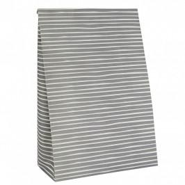 IB LAURSEN Papírový sáček Stripe Grey L, šedá barva, papír