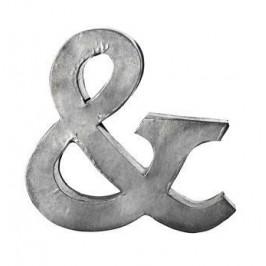 MADAM STOLTZ Plechové písmeno & Zinc, šedá barva, zinek