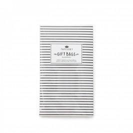 TAFELGUT Dárkové papírové sáčky Stripes - 6 ks, černá barva, bílá barva, papír
