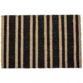 Bloomingville Rohožka z kokosových vláken Black Stripe, černá barva, přírodní barva, plast
