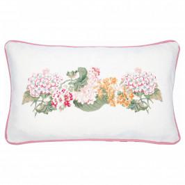 GREEN GATE Bavlněný povlak na polštář Adele White 30x50, růžová barva, žlutá barva, bílá barva, textil
