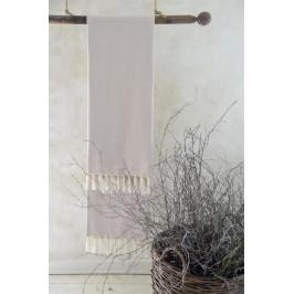 Jeanne d'Arc Living Osuška z recyklované bavlny Cream 100x200 cm, béžová barva, textil