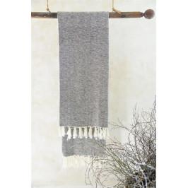 Jeanne d'Arc Living Osuška z recyklované bavlny Brown 100x200 cm, hnědá barva, textil