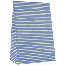 IB LAURSEN Papírový sáček Blue Stripe Větší, modrá barva, bílá barva, papír