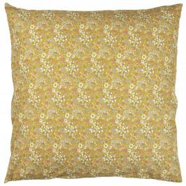 IB LAURSEN Povlak na polštář Yellow Flowers 60x60cm, žlutá barva, textil