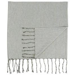 IB LAURSEN Bavlněná osuška Black Stripes, černá barva, textil