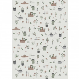 IB LAURSEN Balicí papír Let It Grow – 10 m, růžová barva, zelená barva, šedá barva, papír
