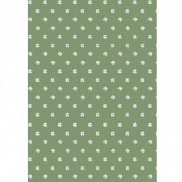 IB LAURSEN Balicí papír Four-leaved Clovers – 10 m, zelená barva, bílá barva, papír
