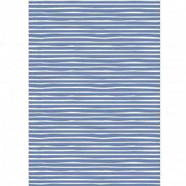 IB LAURSEN Balicí papír Blue Stripe – 10 m, modrá barva, bílá barva, papír