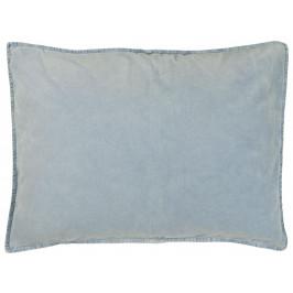 IB LAURSEN Sametový povlak na polštář Light Blue 70x50, modrá barva, textil
