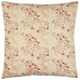 IB LAURSEN Bavlněný povlak na polštář Beige/Berry Pattern 50x50, červená barva, růžová barva, béžová barva, textil