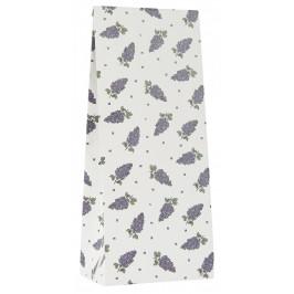 IB LAURSEN Papírový sáček Lilac Menší, fialová barva, zelená barva, bílá barva, papír