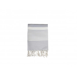 Chic Antique Bavlněná osuška French Grey 180x90, šedá barva, bílá barva, textil