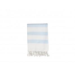 Chic Antique Bavlněná osuška Light Blue 180x90, modrá barva, bílá barva, textil