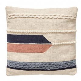 Hübsch Bavlněný polštář Indian Summer 50 x 50 cm, multi barva, krémová barva, textil