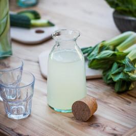 Garden Trading Skleněná lahev s korkovou zátkou 800ml, čirá barva, sklo, korek