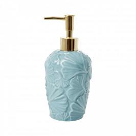 rice Zásobník na tekuté mýdlo Petal, modrá barva, zlatá barva, porcelán