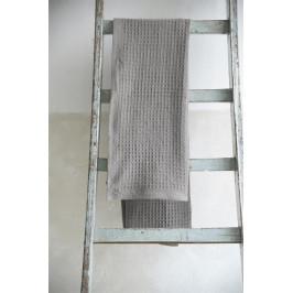 Jeanne d'Arc Living Bavlněný ručník Waffle Dark Grey 140x70cm, šedá barva, textil