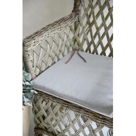 Jeanne d'Arc Living Sedák Canvas Grey 45x45cm, šedá barva, textil