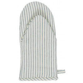 IB LAURSEN Bavlněná chňapka Blue Stripe, modrá barva, bílá barva, textil