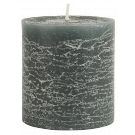 IB LAURSEN Kulatá svíčka Rustic Moss Green 7,5 cm, zelená barva, vosk